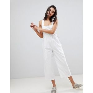 NWOT Free People White Fara Jumpsuit Size 2